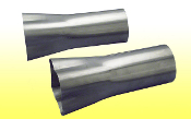 "Weld-On Collector 2 1/8"" Tube - 3 1/2""x10"" Collector"